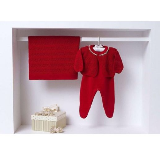 Criança à vista? Ane Kids indica 12 presentes para Chá de Bebê Saída Maternidade Vermelha Com Pérolas 289,00