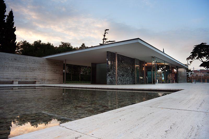pavilhão de Barcelona, de Mies Van der Rohe