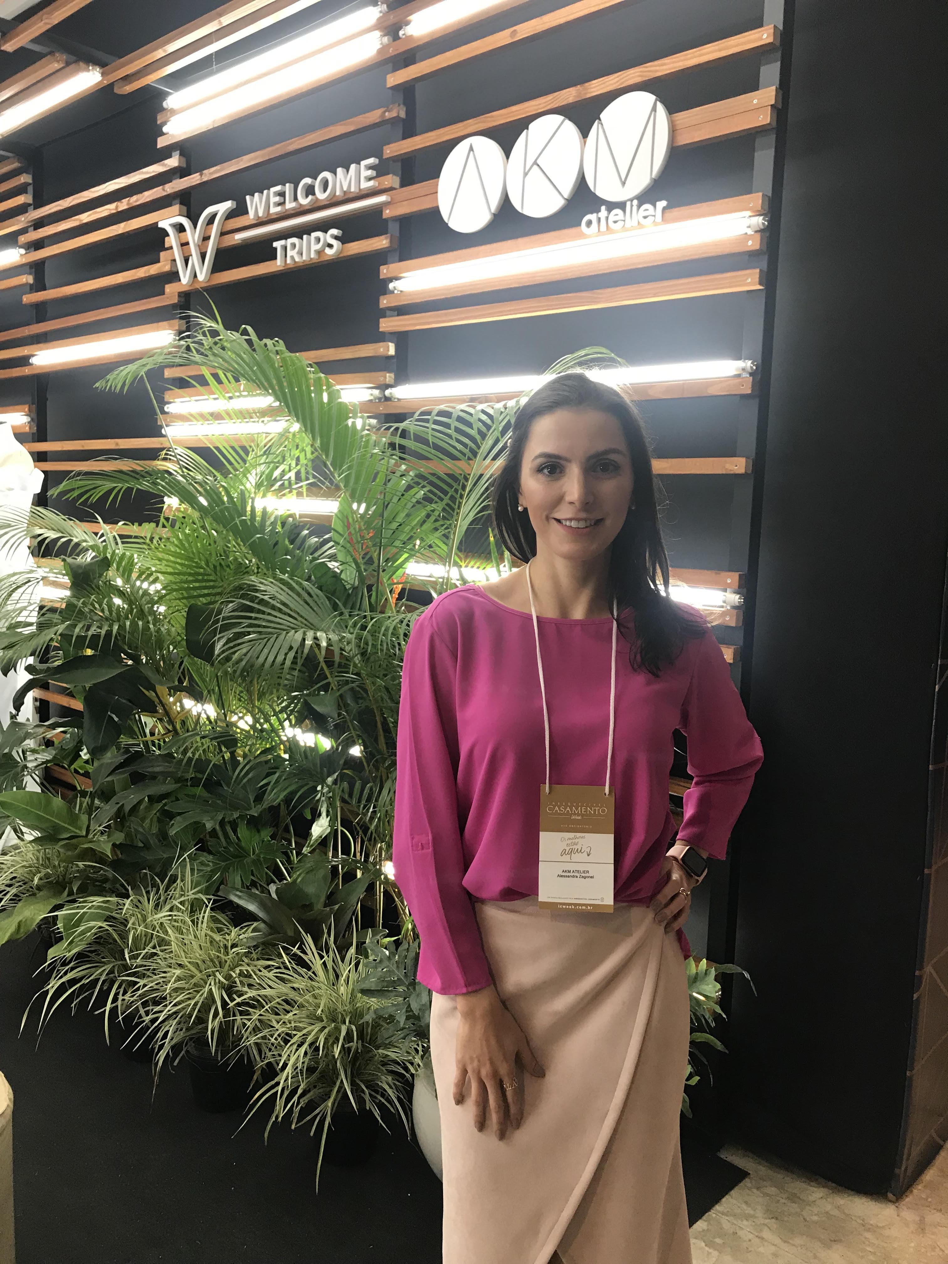 A estilista da AKM, Alessandra M. Zagonel, no Castelo do Batel já que participou da Inesquecível Casamento