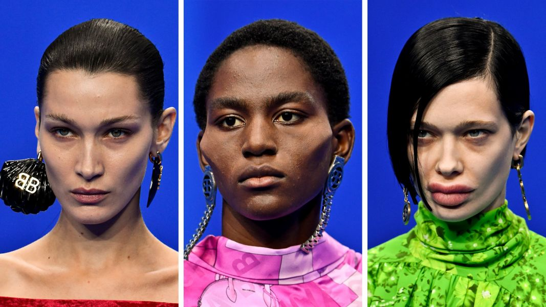 Maquiagens protéticas Balenciaga